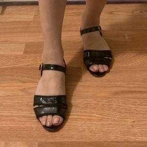 Salvatore Ferragamo Black Sandals